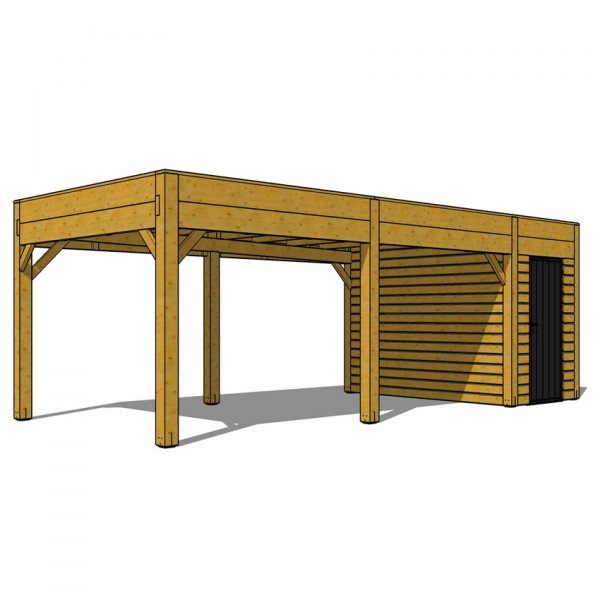 CARPORT EPURE SIMPLE AVEC CELLIER