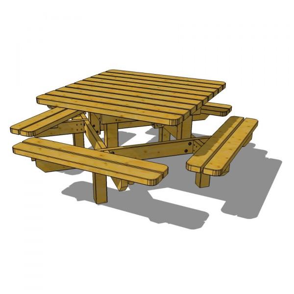 TABLE PICNIC CARRE