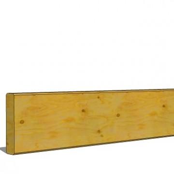 Planche 28x120mm lg 5.10m