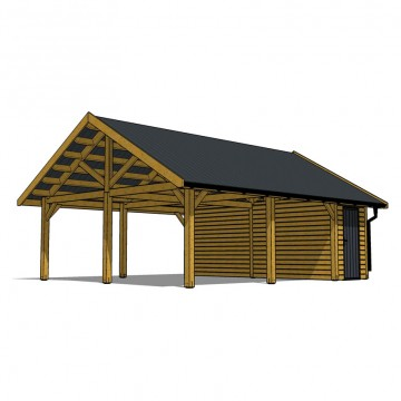 CARPORT VINTAGE DOUBLE AVEC CELLIER
